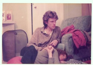 Me and Not all Smiles on the floor of my cousin Cissy's house - Blagdon Hall, Northumberland – 1982