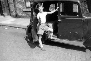 Colin Prior - a school friend from Todd's Nook and his dad's new car on the cobbles of Jefferson Street - not quite the more up market Riley that Jimmy Gray's dad owned but a car all the same - a rare possession for any family in the 1950's